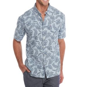 Tommy Bahama Laurel Camp Shirt in Bering Blue